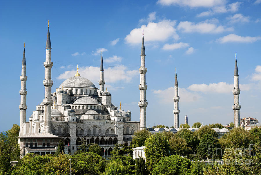 Mešita Hd: Sultan Ahmed Mosque Landmark In Istanbul Turkey Photograph