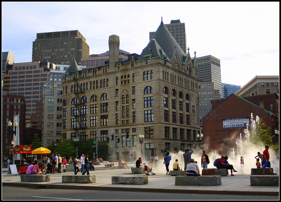 Summer Afternoon In Boston - Boston - Travel  - Tourist Areas -  Photograph - Summer Afternoon In Boston by Dora Sofia Caputo Photographic Art and Design