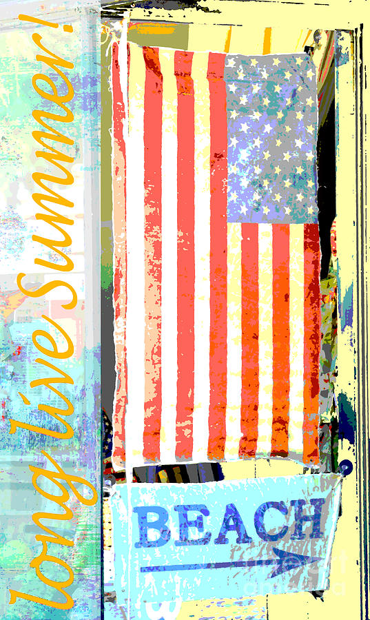 Summer And Beach Americana Mixed Media