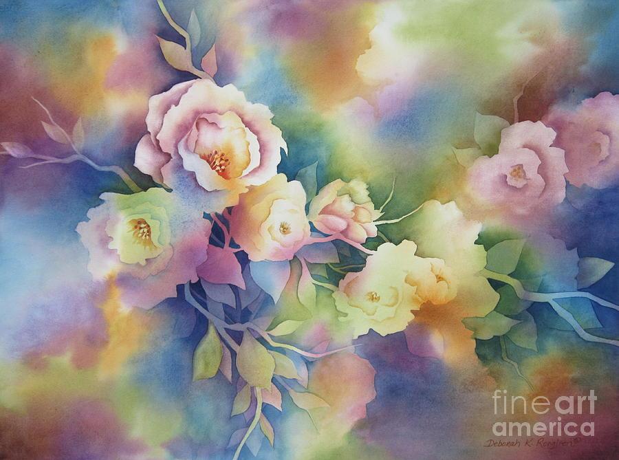Floral Painting - Summer Blooms by Deborah Ronglien