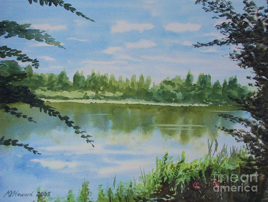 Summer By The River Painting  - Summer By The River Fine Art Print