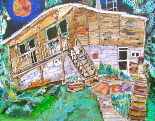 Quebec Painting - Summer Cottage by Michael Litvack