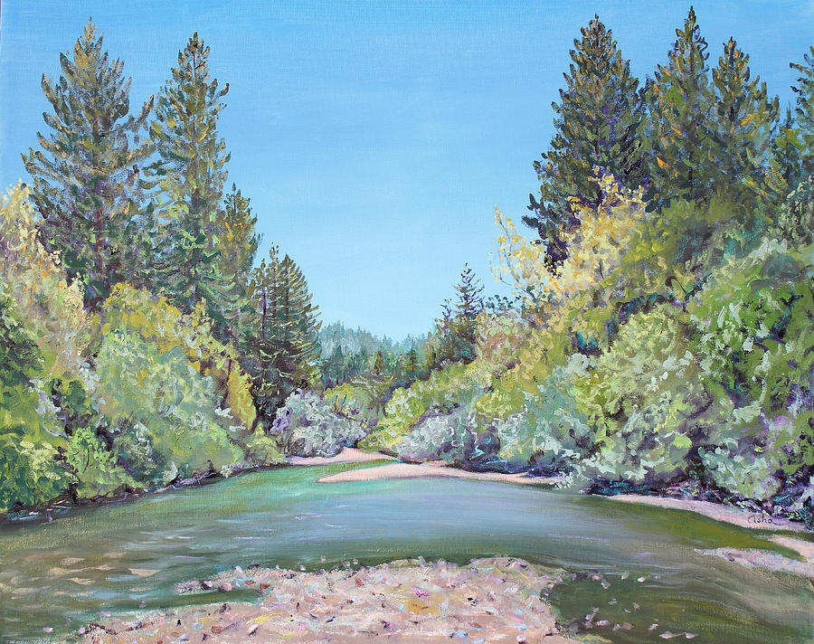 Summer Day On The Gualala River Painting