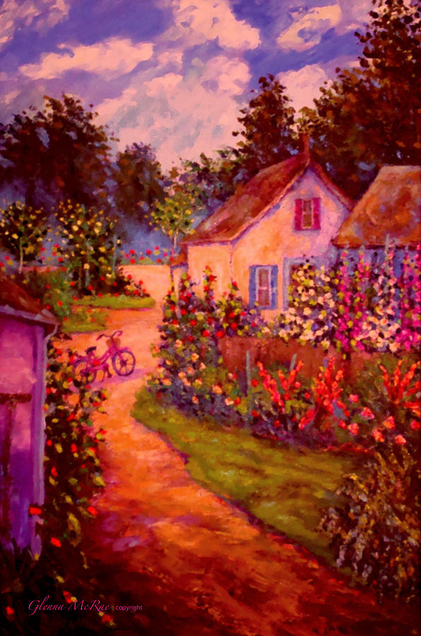 Summer Days At The Cottage Painting  - Summer Days At The Cottage Fine Art Print