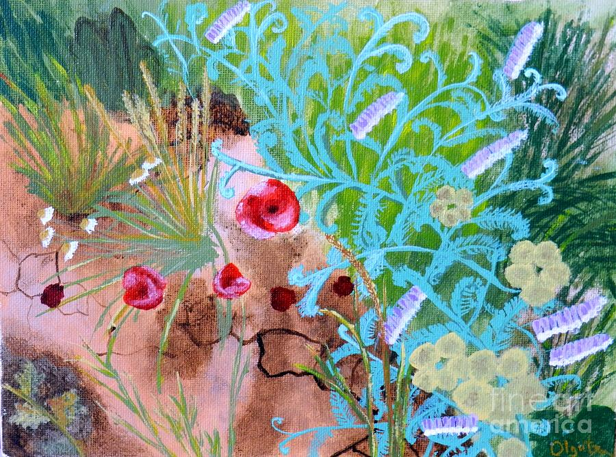 Poppy Painting - Summer Flowers by Olga R