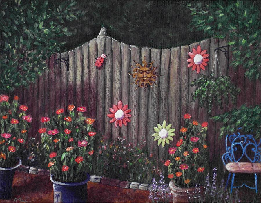 Plant Painting - Summer Garden by Anastasiya Malakhova
