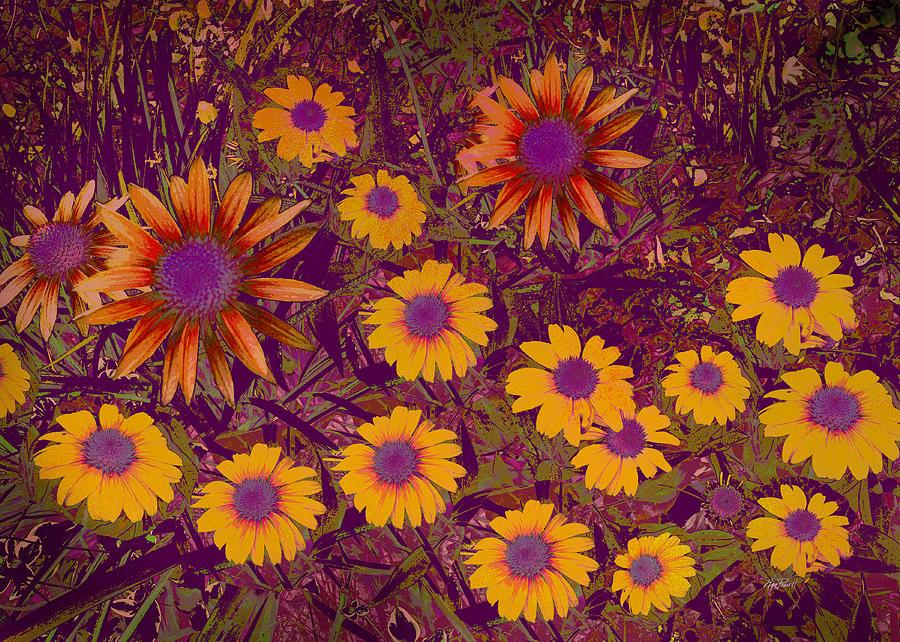 Flower Digital Art - Summer Garden by Ann Powell
