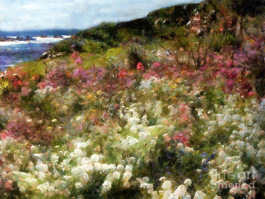 Summer Garden On La Cote Dazur Painting