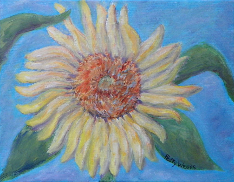 Summer Garden Sunflower Painting
