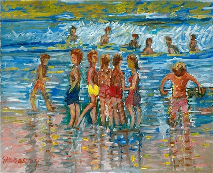 Summer Heat Painting By Gerard Hegarty