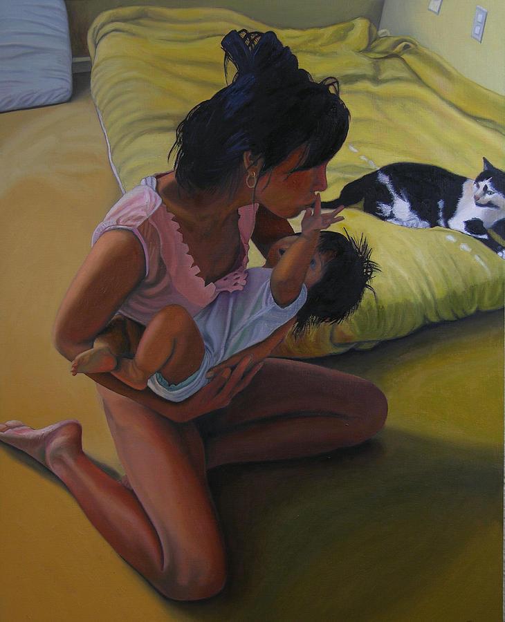 Figure Painting - Summer Morning Cabot Arkansas by Thu Nguyen