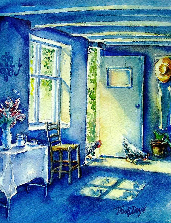 Summer Morning Visitors Painting