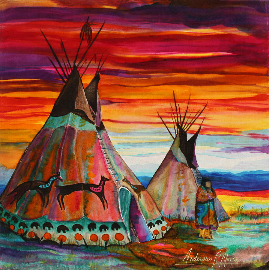 Summer On The Plains Painting