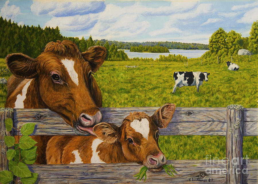 Summer Pasture Painting  - Summer Pasture Fine Art Print