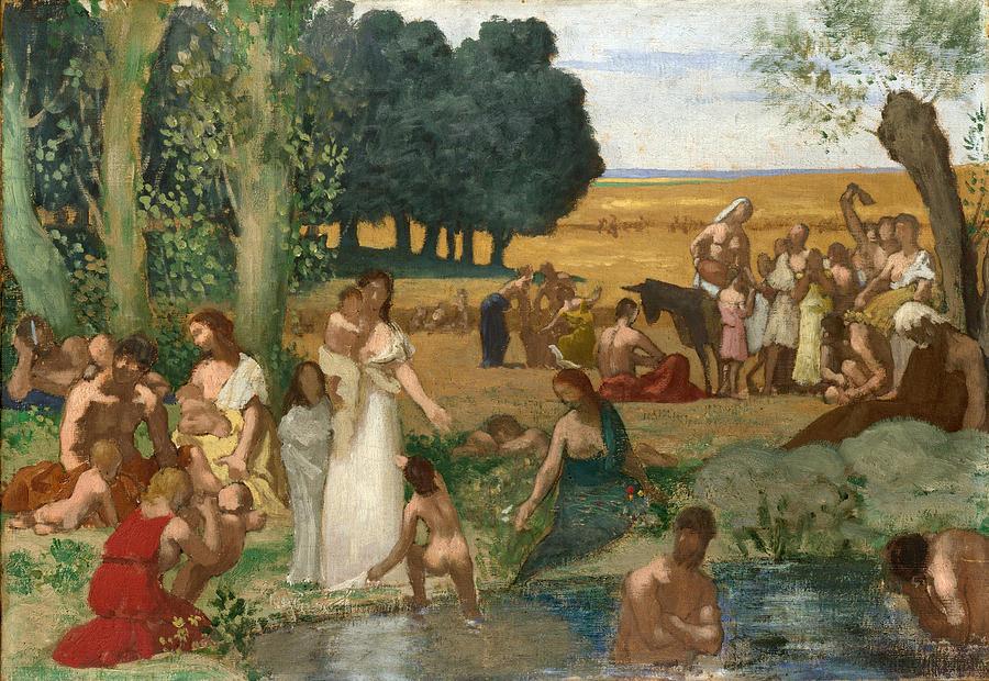 Summer painting by pierre puvis de chavannes for Tour de chavannes