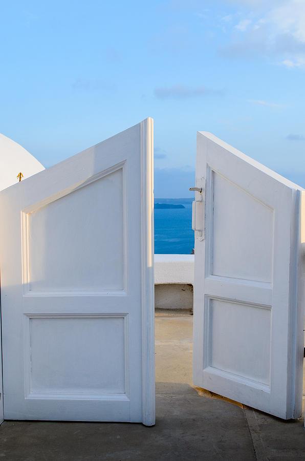Greece Photograph - Summer Portal by Zoomclickboom Studio
