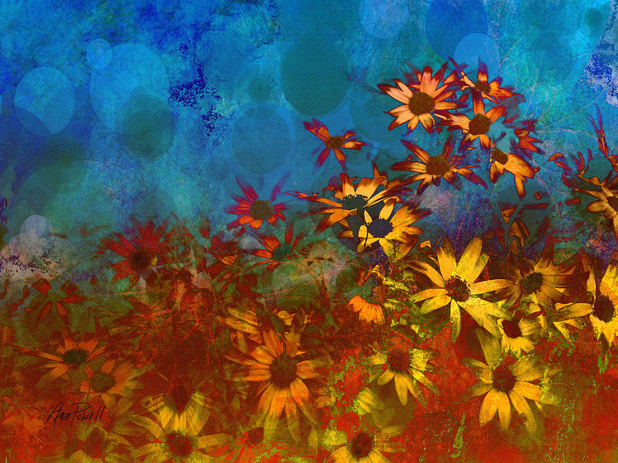 Summer Sizzle Abstract Flower Art Painting