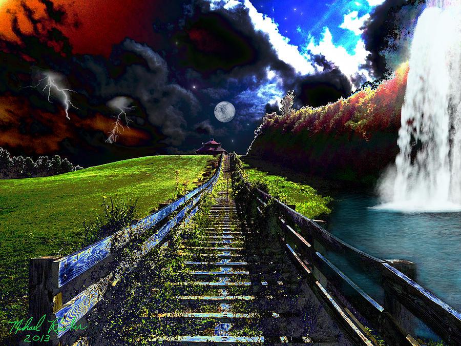 Storm Digital Art - Summer Storm by Michael Rucker