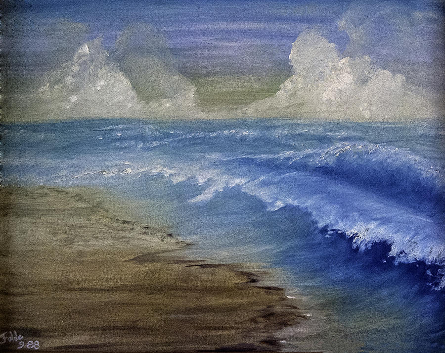 Sea Painting - Summer Surf by Judy Hall-Folde