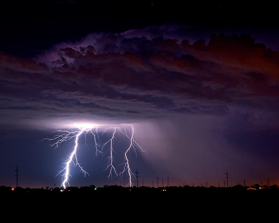 Summer Thunderstorm San Joaquin Valley Ca Photograph