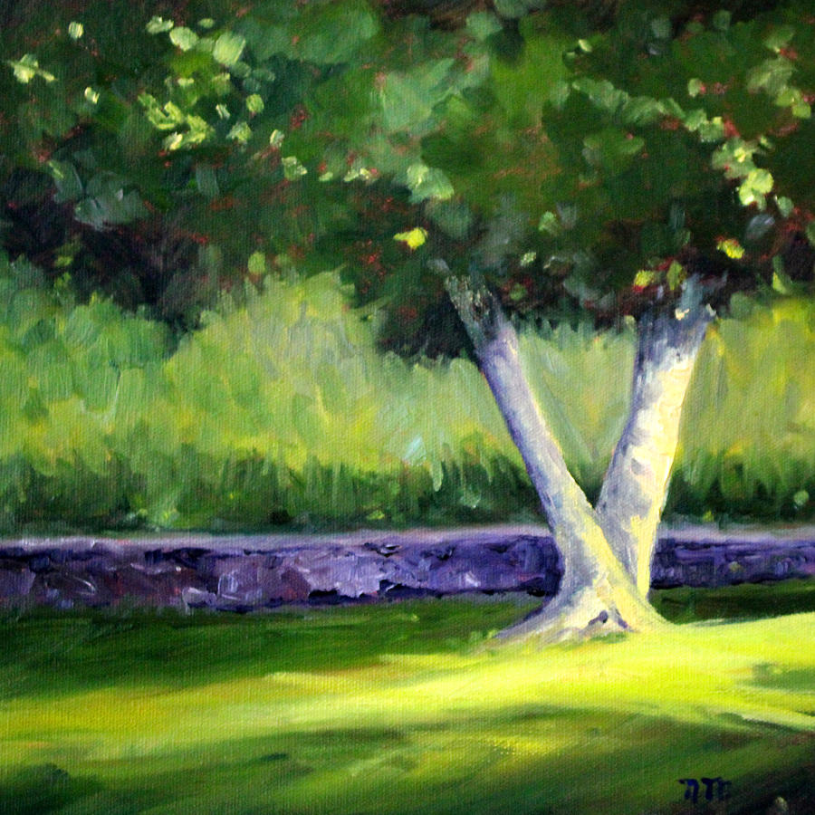 Tree Painting - Summer Tree by Nancy Merkle