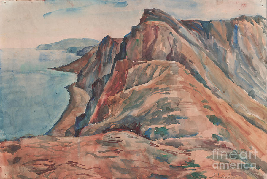 Summer View Of Koktebel Painting  - Summer View Of Koktebel Fine Art Print