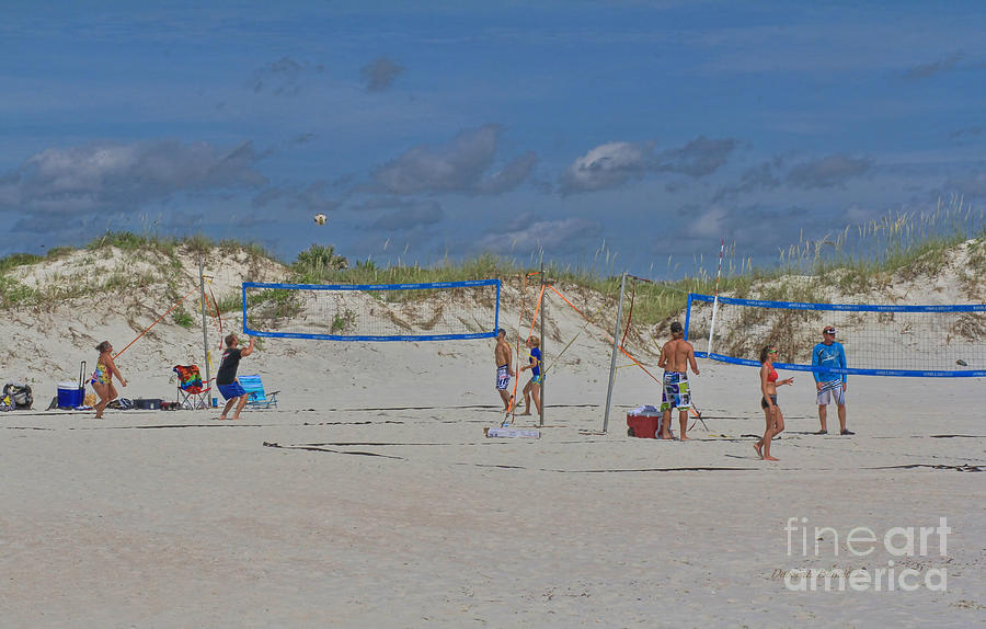 Summer Volley Ball Photograph  - Summer Volley Ball Fine Art Print