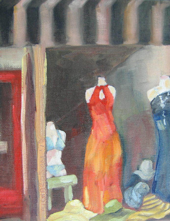 Dress Shop Painting - Summer Window by Susan Richardson