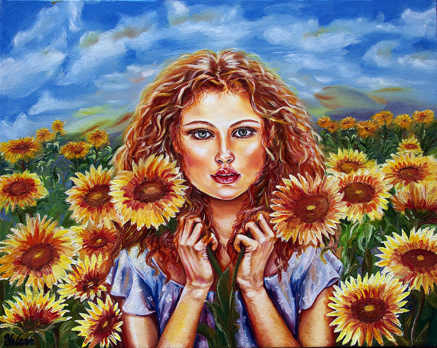Summers Sunflowers  Painting