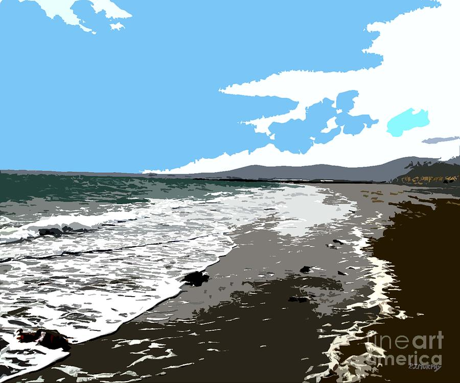 Summertime Beach Painting  - Summertime Beach Fine Art Print