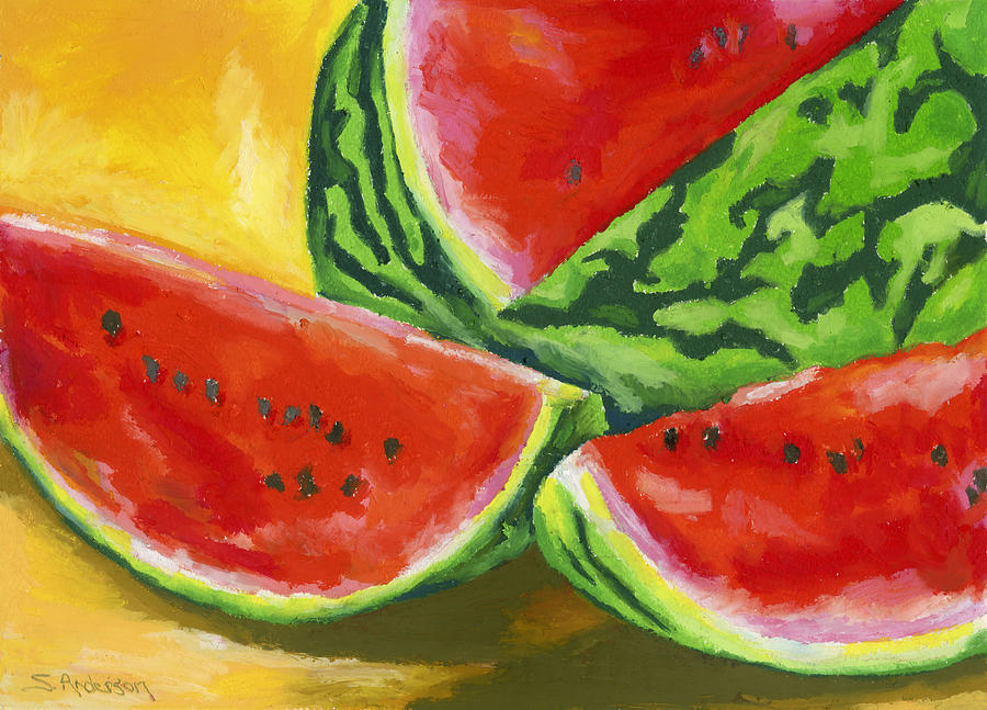 Summertime Delight Painting  - Summertime Delight Fine Art Print