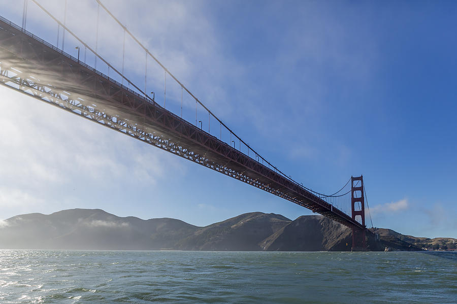 Sun Beams Through The Golden Gate Photograph