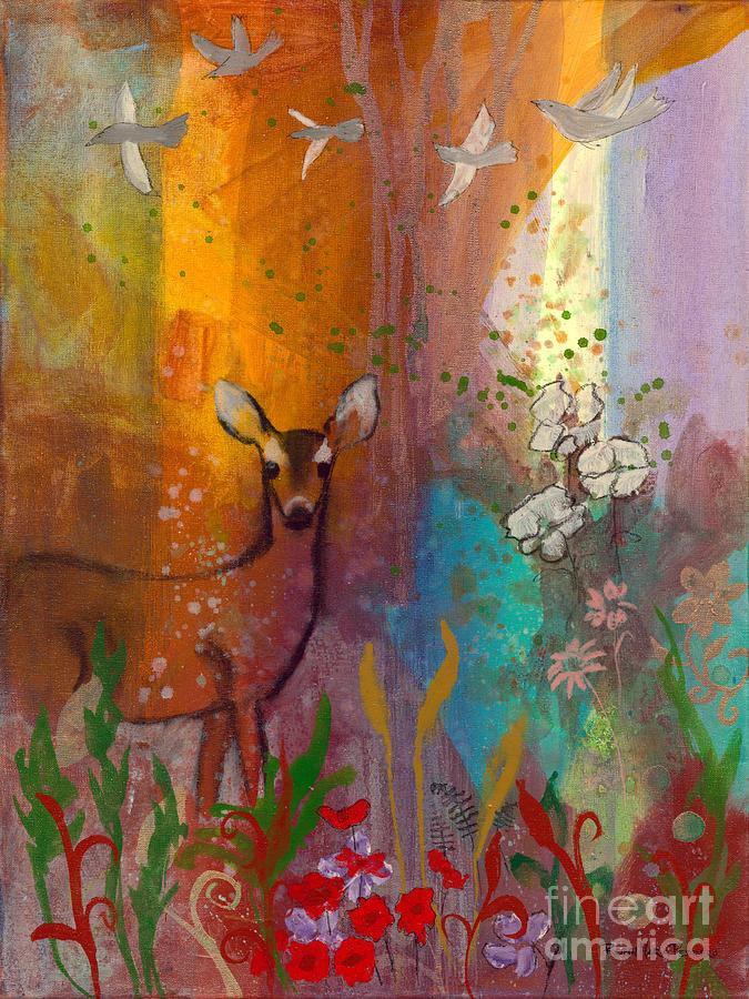 Sun Painting - Sun Deer by Robin Maria Pedrero