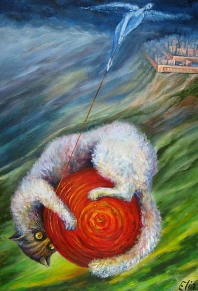 Childhood Painting - Sun Games by Elisheva Nesis