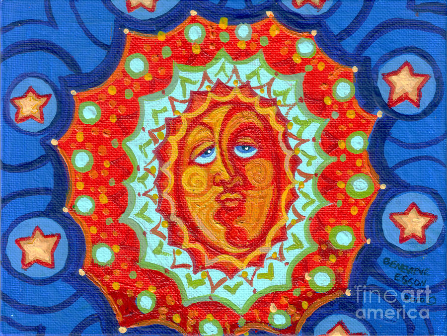 Sun God Painting  - Sun God Fine Art Print
