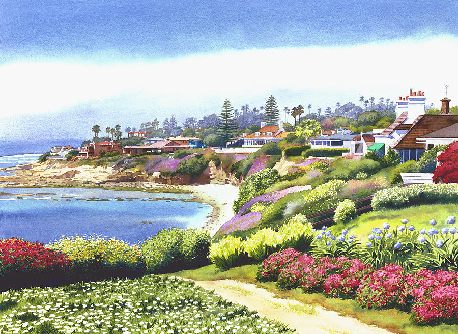 Sun Gold Point La Jolla Painting