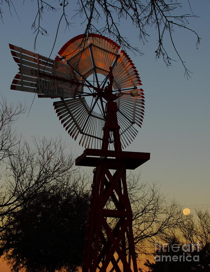 Windmill Photograph - Sun Moon And Wind by Robert Frederick