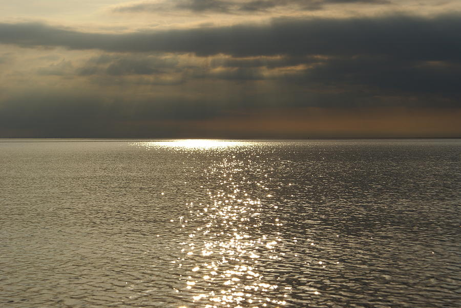 Sun Rays And Reflections In The Sea Photograph