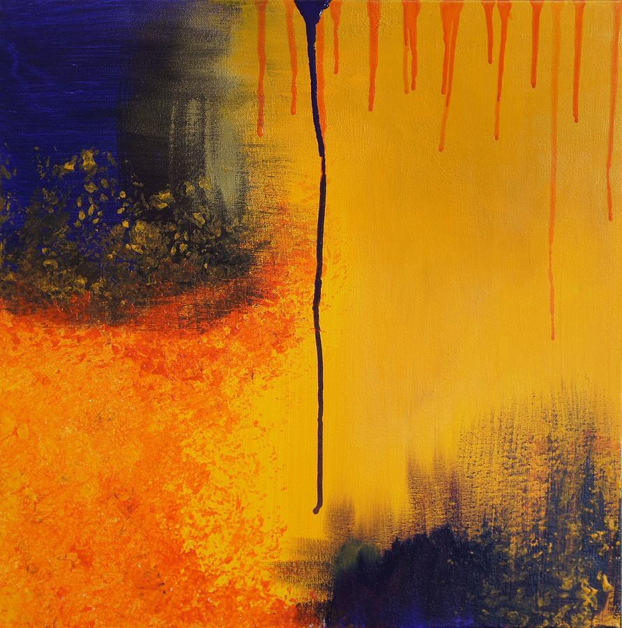 Yellow Painting - Sun Rising by Kristine Bogdanovich