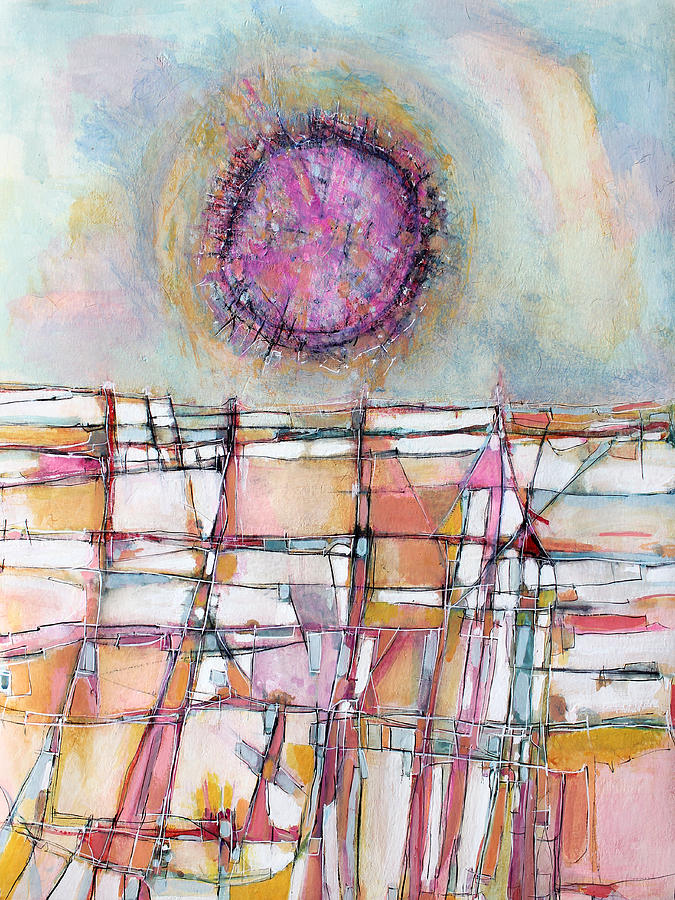 Abstract Painting Painting - Sun And City by Hari Thomas