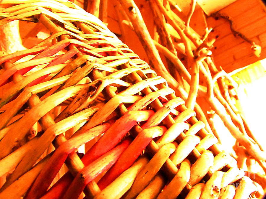 Wicker Basket Photograph - Sun Wicker Basket by Yury Bashkin