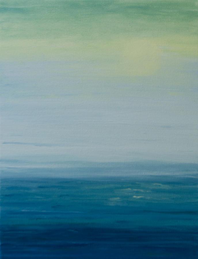 Blue Painting - Sunbathed by Jan Roelofs