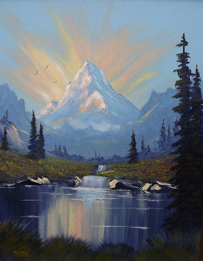 Sunburst Landscape Painting