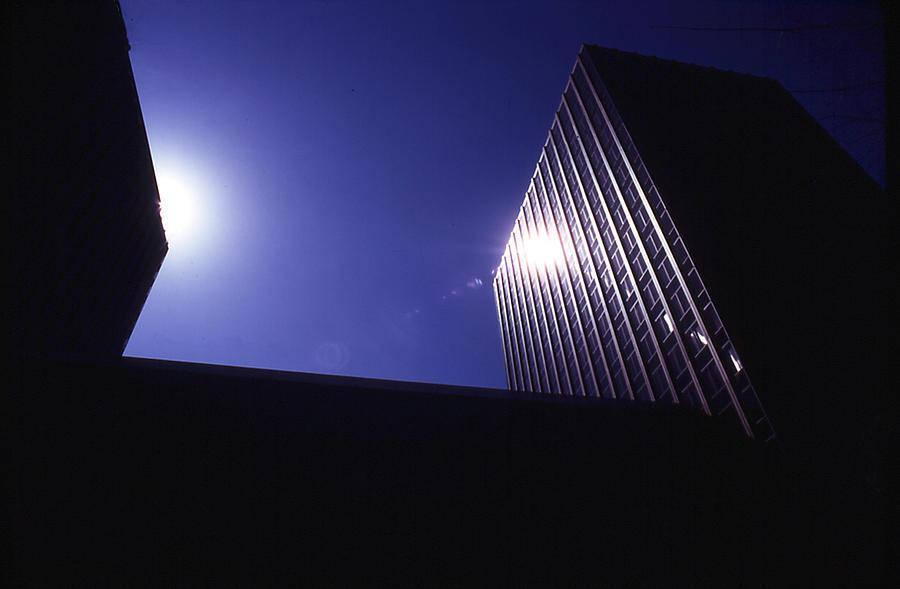 Buildings Photograph - Sunburst On Building by Thomas D McManus