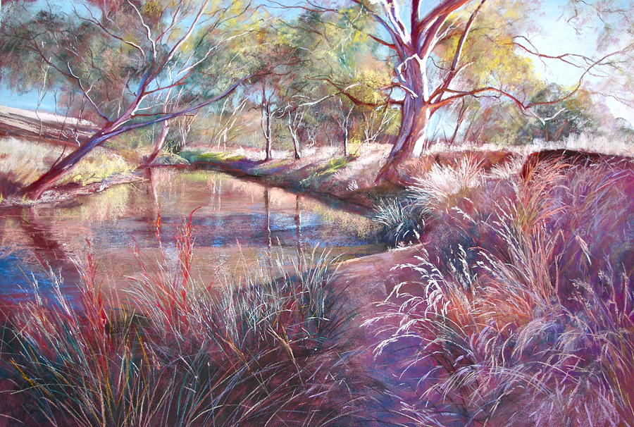 Lynda Robinson Painting - Sunday Creek At Docherys Road by Lynda Robinson