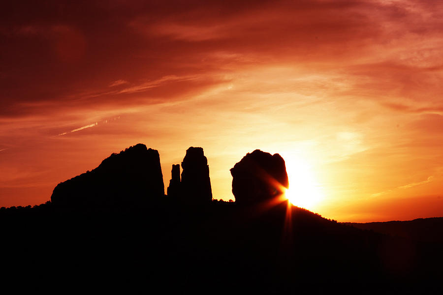 Cathedral Rock Photograph - Sundown At Cathedral by Tom Kelly
