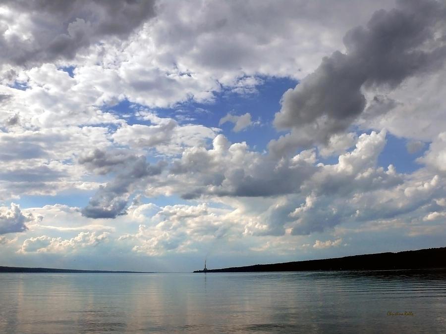 Sundown On Cayuga Lake Photograph