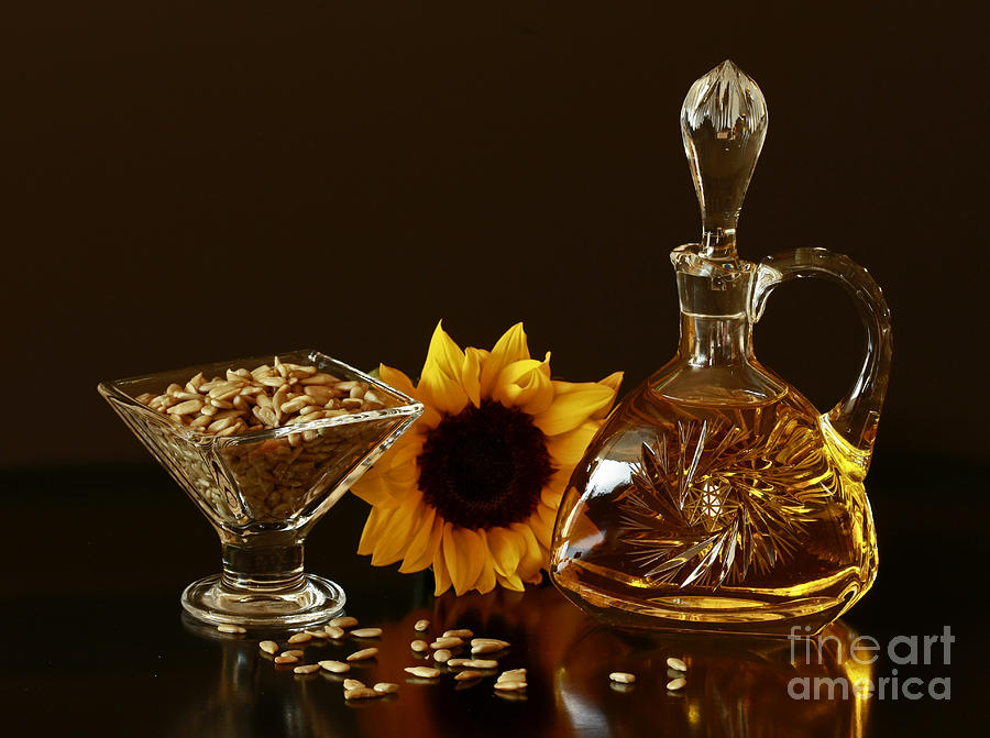 Sunflower And Crystal Photograph  - Sunflower And Crystal Fine Art Print
