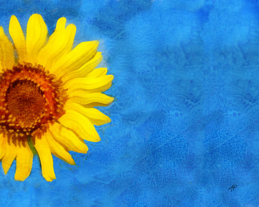 Sunflower Digital Art - Sunflower Art by Ann Powell