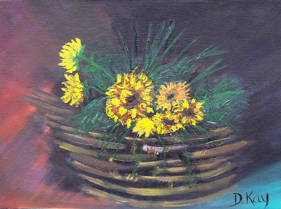 Sunflower Basket Painting